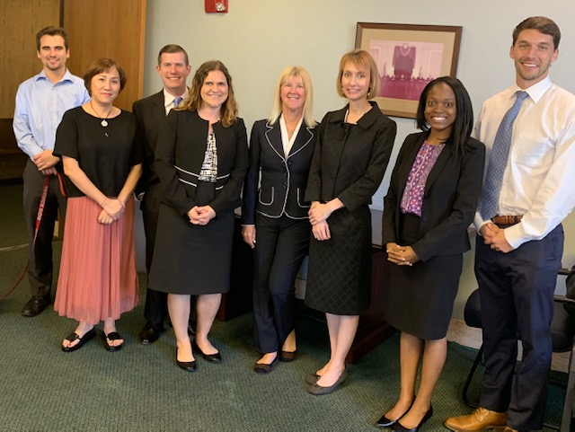 Janelle A. Weber attends lunch with Judge Amy Williams and members of the St. Petersburg Bar Association.